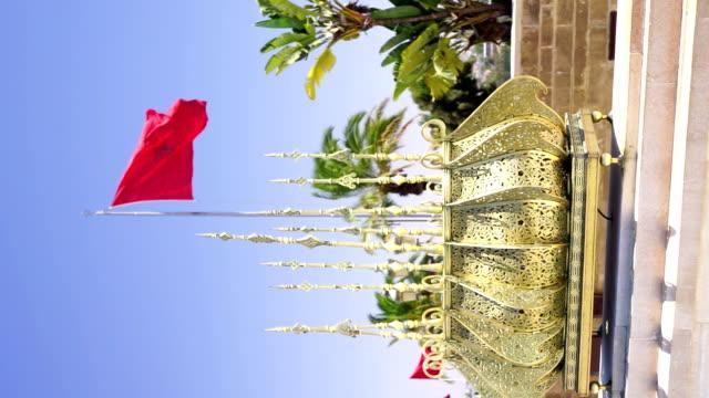 vídeos y material grabado en eventos de stock de bandera de metal decorativo y marruecos - estilo siglo xx