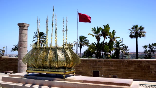 decorative metal and morocco flag - rabat morocco stock videos & royalty-free footage