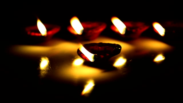 Happy diwali greetings videos and b roll footage getty images decorative oil lamps m4hsunfo