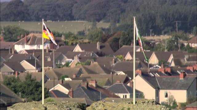 dee estuary - bandiera inglese video stock e b–roll