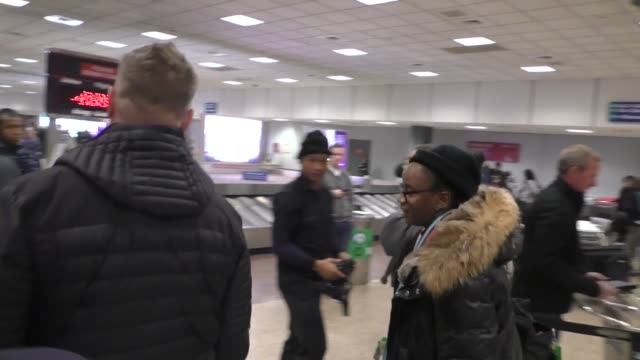 stockvideo's en b-roll-footage met dee rees arrives at the salt lake city airport ahead of the 2020 sundance film festival in salt lake city in celebrity sightings in park city utah - sundance film festival