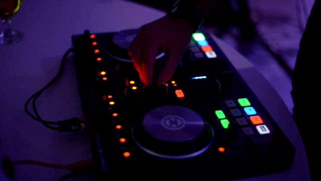 deejay playing music at a party - compact disc player stock videos & royalty-free footage