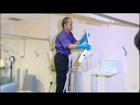 deep cleaning of hospital equipment - staphylococcus aureus stock videos & royalty-free footage