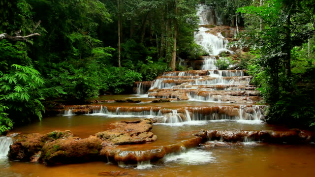 Deep Forest beautiful waterfall at Pha Charoen