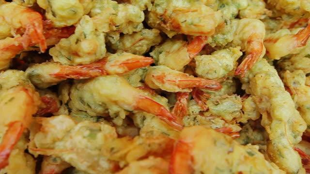 ECU PAN Deep fried shrimps lain on plate / Seongnam, Gyeonggido, South Korea