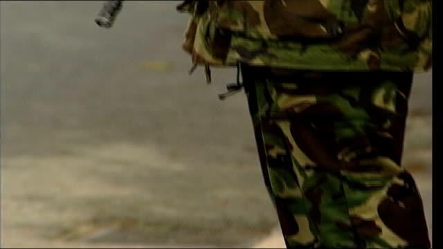 Deaths LIB ENGLAND Surrey EXT GVs Soldiers at Deepcut Army barracks GV Deepcut
