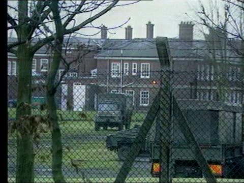 army criticised lib gv deepcut barracks - barracks stock videos & royalty-free footage