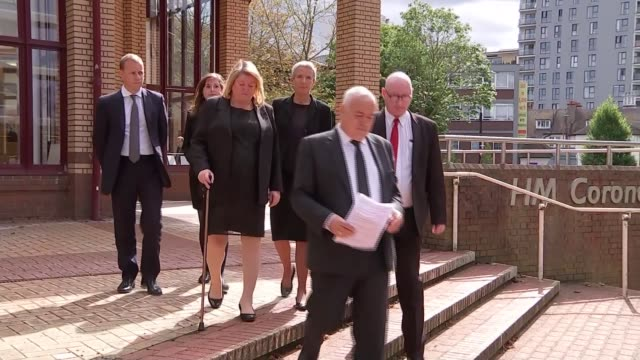 army recruit geoff gray took his own life at deepcut inquest finds england woking hm coroner's court ext geoff gray and diane gray along from court... - inquest stock videos and b-roll footage