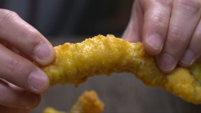 deep-fried white fish of catfish - filleted stock videos & royalty-free footage