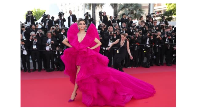 Deepika Padukone on the 'Ash Is The Purest White ' red carpet during the 71st Cannes Film Festival on May 8 2018 in Cannes France