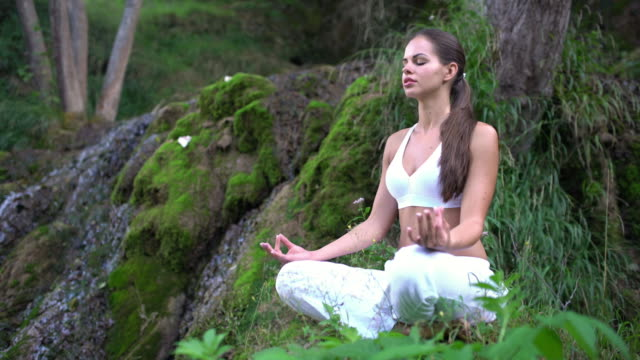 deeply in zen - lotus position stock videos & royalty-free footage