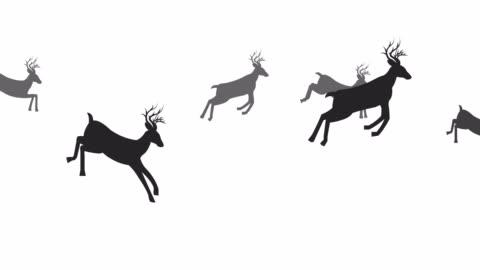 vídeos y material grabado en eventos de stock de bucle de animación salta venado - group of objects
