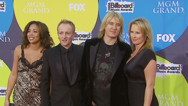 def leppard at the 2006 billboard music awards at the mgm grand hotel in las vegas nevada on december 4 2006 - mgm grand las vegas stock videos & royalty-free footage