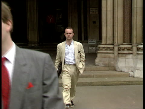 defamation bill introduced england london high court high court gvs ian hislop out of court seq judges procession into court - ian hislop stock videos & royalty-free footage