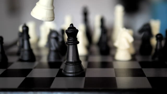 defeat in slow motion -- chess player - chess piece stock videos & royalty-free footage
