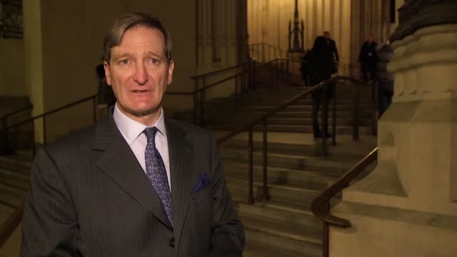 defeat of theresa may's brexit deal leaves country with 'major political crisis' says mp and people's vote campaigner dominic grieve - defeat stock videos & royalty-free footage
