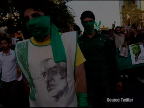 defeated iranian presidential candidate mir hossein mousavi joined tens of thousands of his supporters on thursday at a rally in tehran to mourn the... - 2009 video stock e b–roll