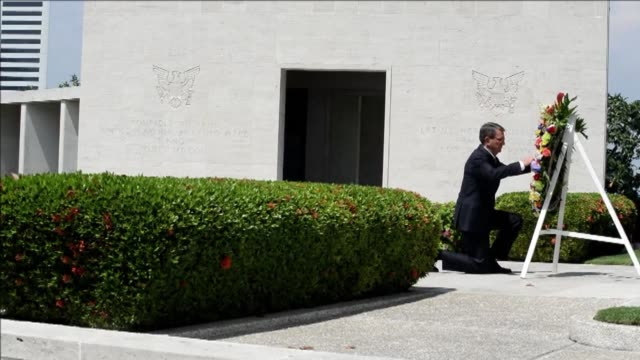 US Defence Secretary Ashton Carter pays tribute at the Manila American Cemetery and Memorial during his visit to America's longstanding Asian ally