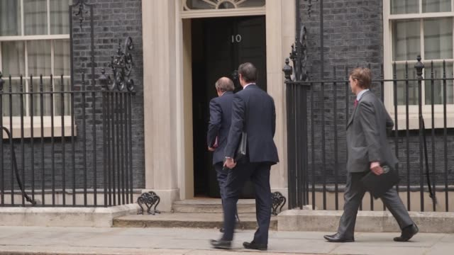 defence secretary ben wallace arrives at 10 downing street in london. - ben wallace stock videos & royalty-free footage