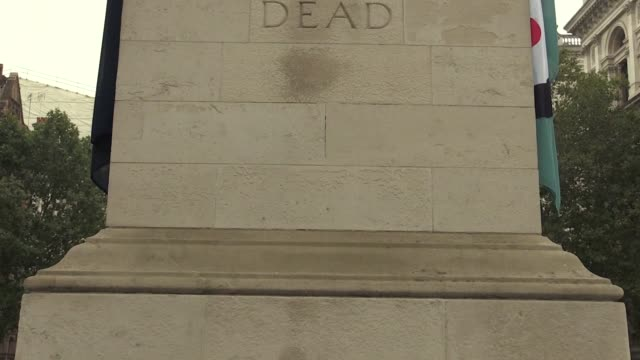 defence secretary ben wallace lays a wreath at the cenotaph on whitehall, central london, to commemorate the fallen soldiers and veterans of the... - ben wallace stock videos & royalty-free footage