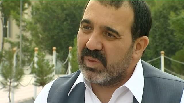 defence secretary denies redeployment of british troops to kandahar; wali karzai interview sot - kandahar stock-videos und b-roll-filmmaterial