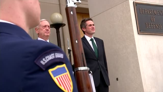 defence secretary gavin williamson visits washington amid reports of affair usa washington ext defence secretary gavin williamson mp along to... - united states department of defense stock videos & royalty-free footage