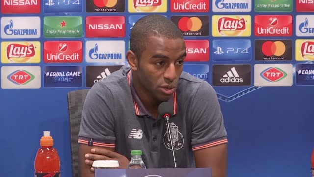 Defender Ricardo Pereira of Porto speaks during a press conference ahead of UEFA Champions League Group G match between Besiktas and Porto at...