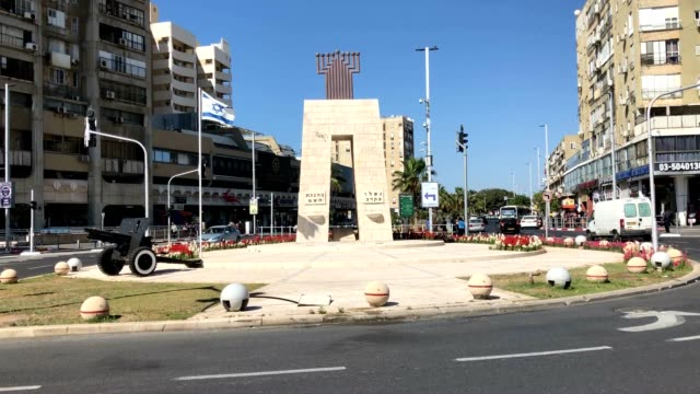 Defenders Square featuring a monument to the fallen in Israel's War of Independence in 1948