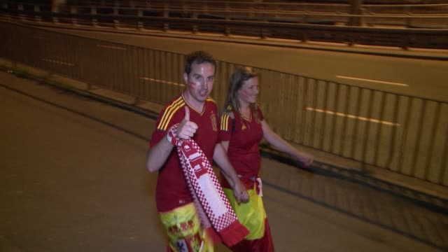 defending champions spain qualified for the euro 2012 quarterfinals in a nervy 10 victory over croatia who bowed out of the competition clean... - quarterfinal round stock videos & royalty-free footage
