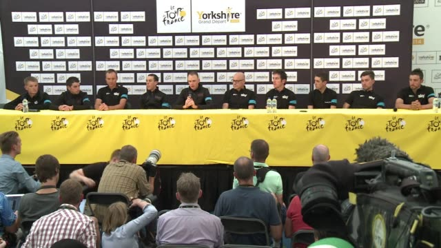 vídeos y material grabado en eventos de stock de defending tour de france champion chris froome is feeling the pressure ahead of the start of the biggest cycle race on the planet on saturday in leeds - 2014