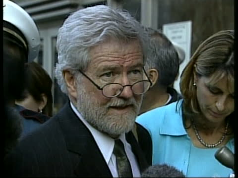 defense attorney george parnham speaks to the press about the conviction of andrea yates for capital murder for drowning all five of her children in... - postpartum depression stock videos & royalty-free footage