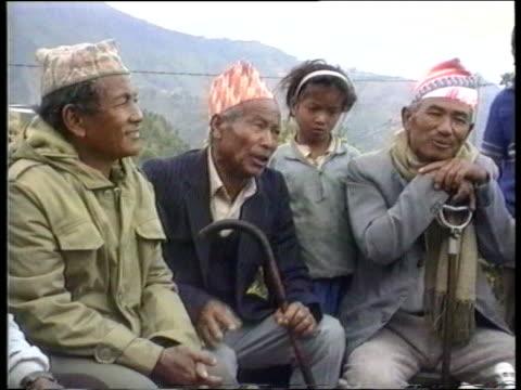 gurkhas itn cms vox pops sof - nepal stock-videos und b-roll-filmmaterial