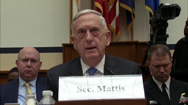 defense secretary jim mattis at a house armed services committee hearing on defense strategy and nuclear posture review tells north carolina... - posture stock videos and b-roll footage
