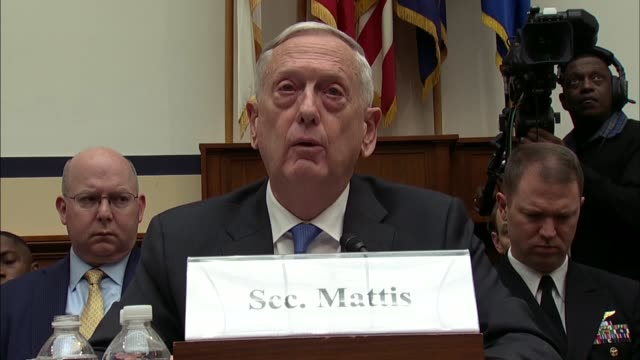 vidéos et rushes de defense secretary jim mattis says at a house armed services committee hearing on defense strategy and nuclear posture review that in the midst of... - posture