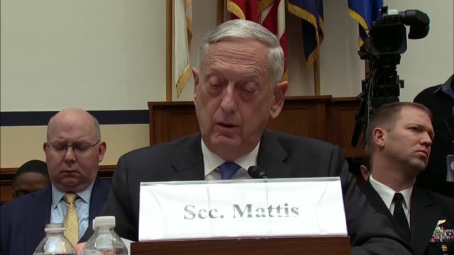 defense secretary jim mattis says at a house armed services committee hearing on defense strategy and nuclear posture review that principal... - posture stock videos and b-roll footage