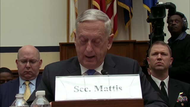 defense secretary jim mattis says at a house armed services committee hearing on defense strategy and nuclear posture review that great power... - posture stock videos and b-roll footage
