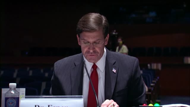 defense secretary mark esper says in a statement to the house armed services committee that he directed the armor secretary to complete a full after... - department of defense stock videos & royalty-free footage