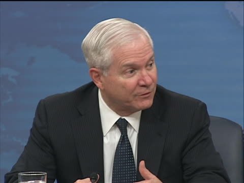 defense secretary robert gates talks about the killing of osama bin laden and if he thinks pakistan senior leaders knew where osama bin laden was... - business or economy or employment and labor or financial market or finance or agriculture stock videos & royalty-free footage