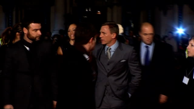 arrivals daniel craig arriving at premiere with girlfriend satsuki mitchell - daniel craig stock videos and b-roll footage