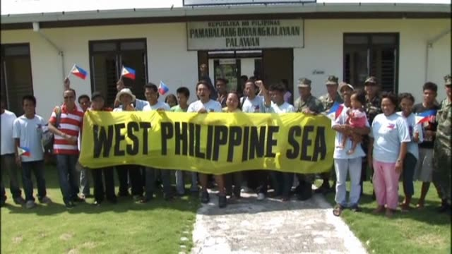 defiant philippine lawmakers travel to an island in the disputed spratly chain, ignoring warnings from china that the trip would destabilise the... - legislator stock videos & royalty-free footage