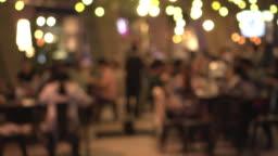 Defocus nightlife in yellow light background