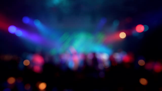 defocus party lights in night club - abstract background - pub stock videos & royalty-free footage