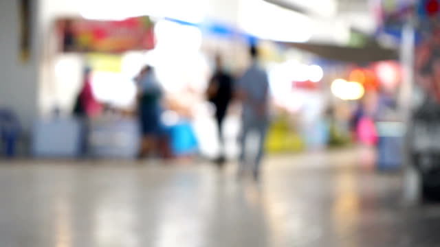 defocus people in exhibition mall - trade show booth stock videos & royalty-free footage