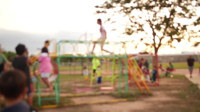 defocus playground - school yard stock videos & royalty-free footage