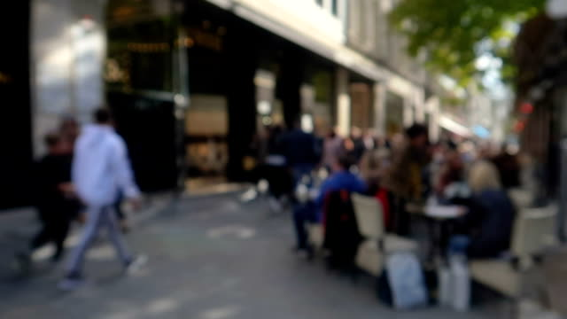 defocus street - stock video - pedestrian walkway stock videos & royalty-free footage