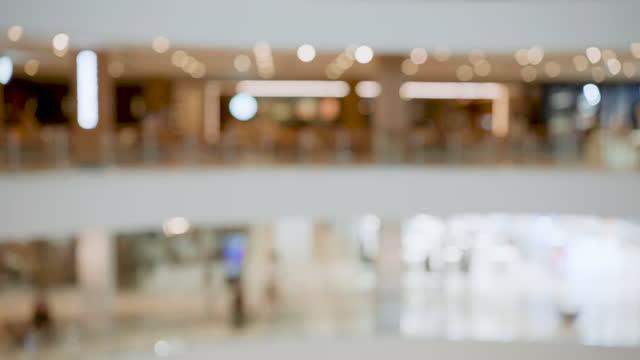 vídeos de stock e filmes b-roll de defocus wide community copy space - shopping centre