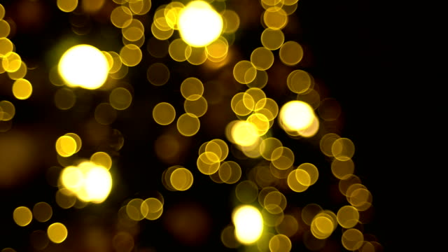 defocused and blur image of gold led lights, abstract background - saturated color stock videos and b-roll footage