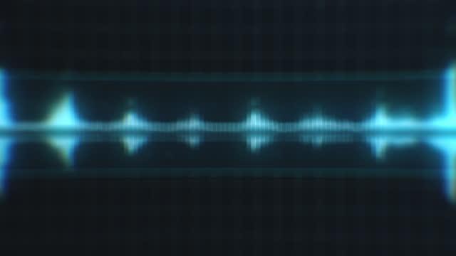 vídeos y material grabado en eventos de stock de fondo de espectro de forma de onda de audio desenfocado - frecuencia