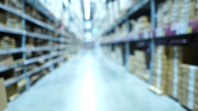 defocused , background  of warehouse store - satisfaction stock videos & royalty-free footage