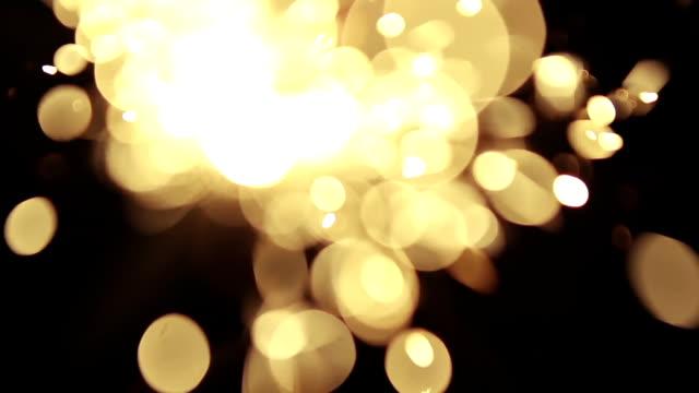 defocused bengal light - sparkler stock videos & royalty-free footage